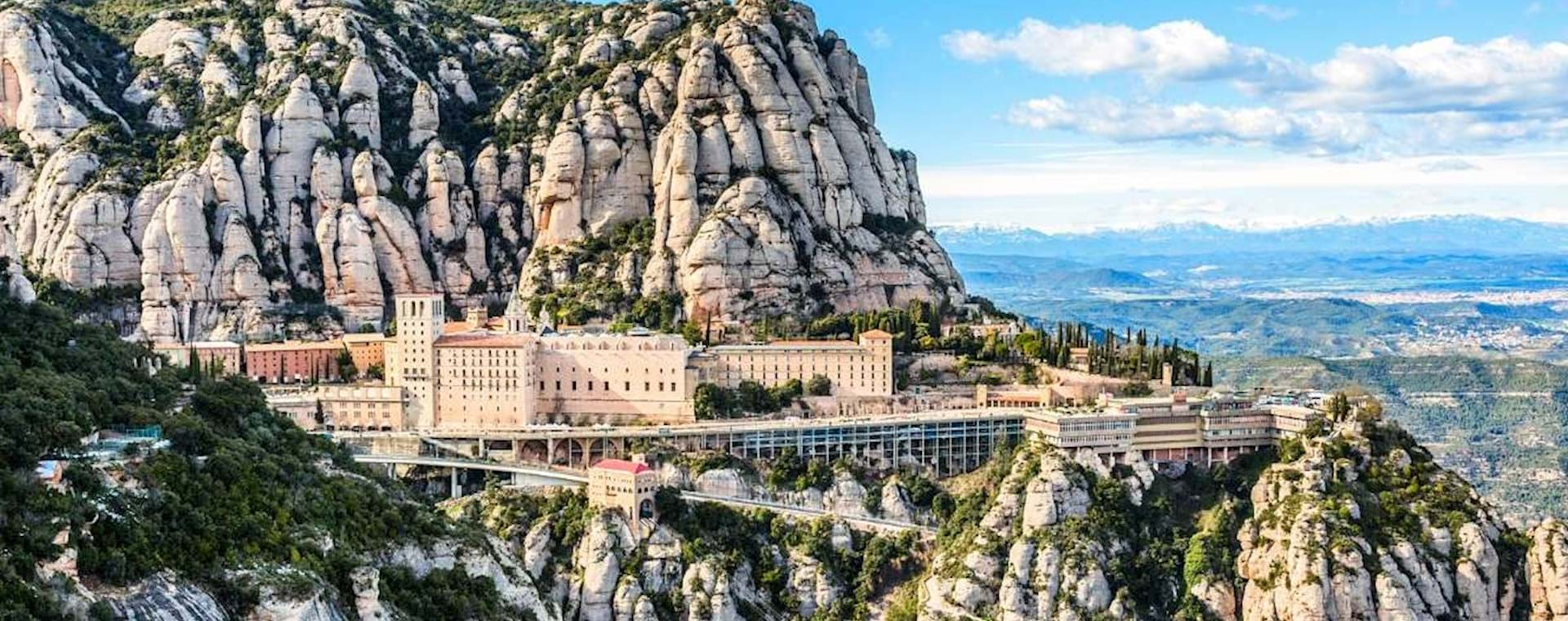 Stunning view of Montserrat near Barcelona in Spain