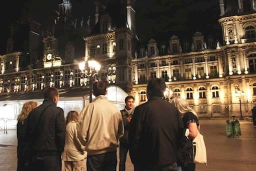 Guided walking tour of Paris at NIght