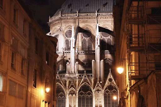 Notre Dame from a back street