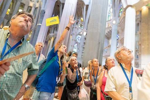Guided walking tour of the Sagrada Famillia