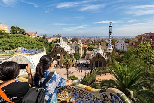 View of Park Guell from the top