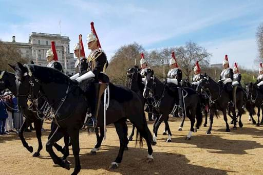 Guards horses parade in London