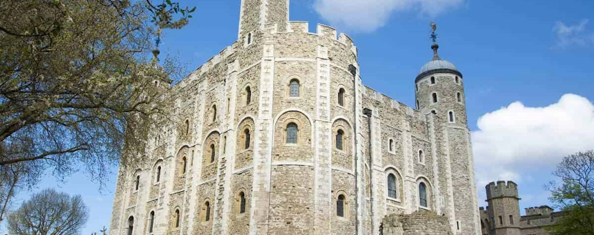 Front view of the Tower of London