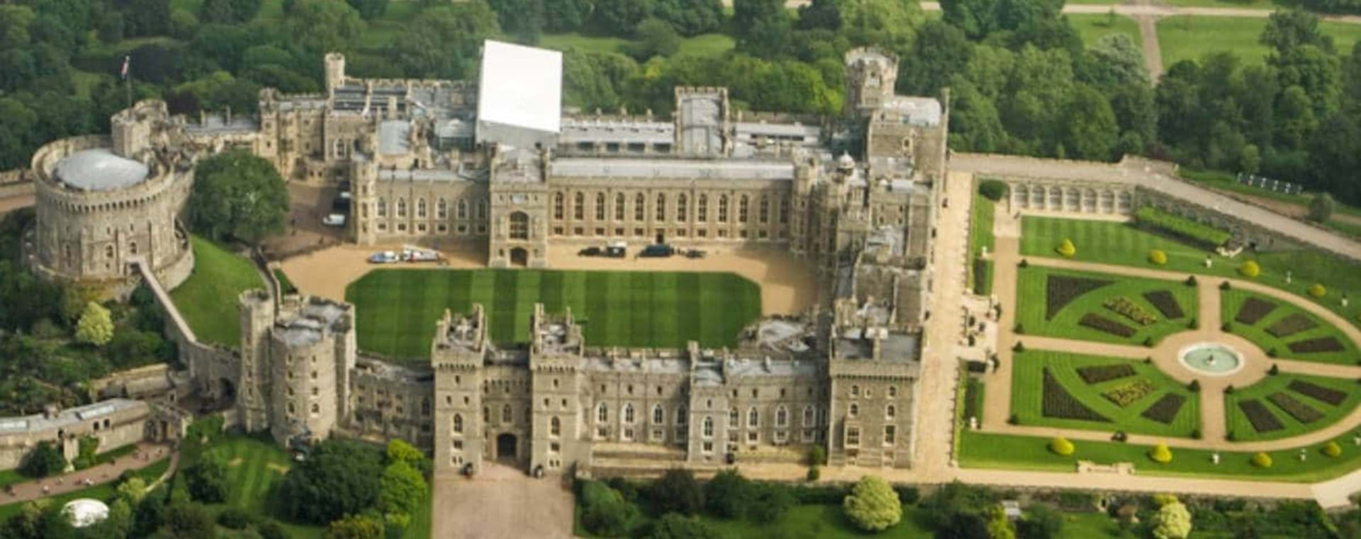 Areal view of Windsor castle