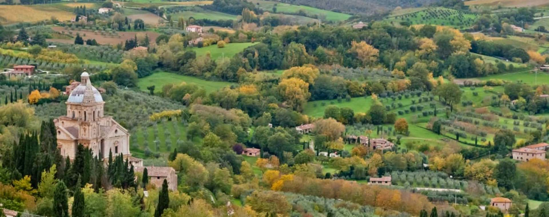 Tuscan-landscape-with-st-Biagio-church