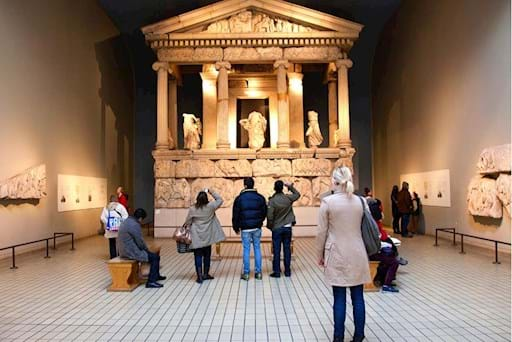 Well preserved ancient Greek altar at the British Museum in London