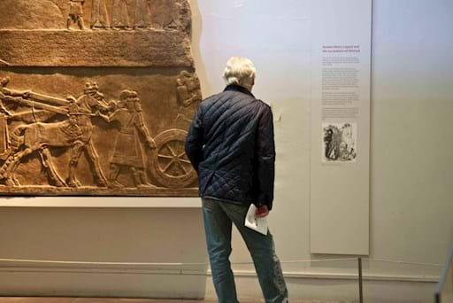 tourist inside the british museum