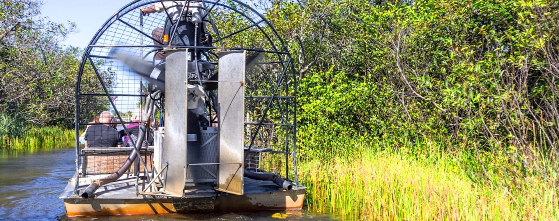 Airboat along the wetland in Everglades