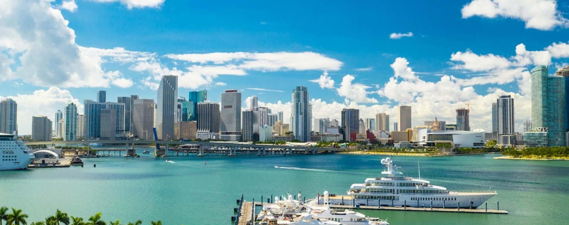 Miami Downtown and Island Garden Marina