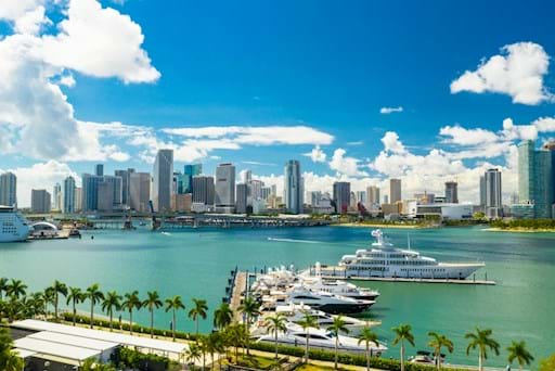 Miami Downtown and Island Garden Marina