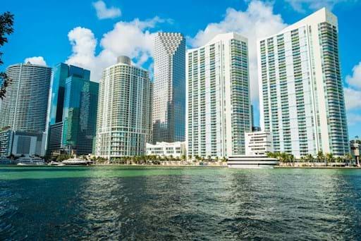 White Skyscrapers in Miami