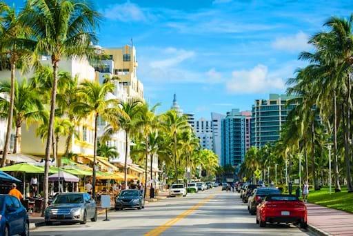 Ocean drive in Downtown Miami