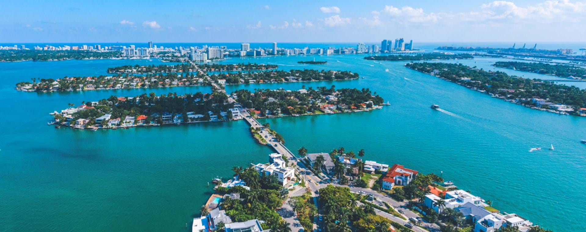 Miami Islands seen from helicopter