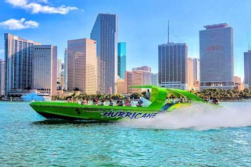 Green Hurricane speedboat