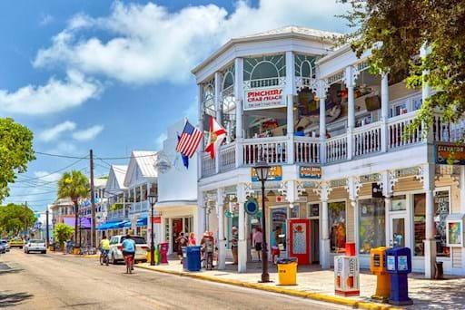 White buildings in Key West