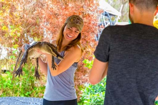Smiley Girl with alligator