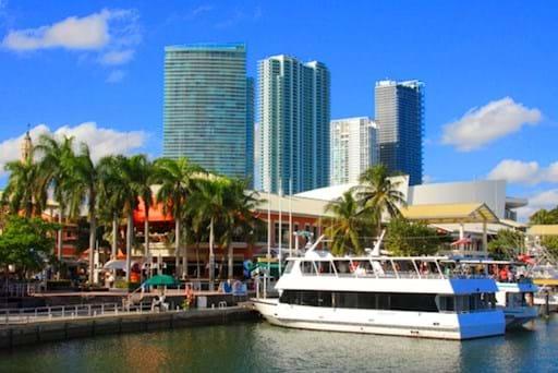 Boat at the Miami Port