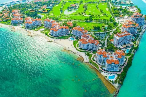 Areal view of Fisher Island