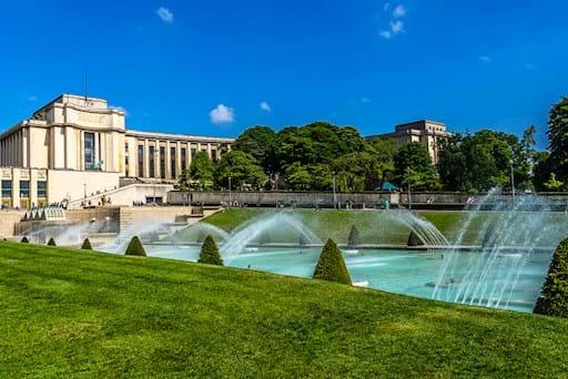 Fountains at Palais de Chaillot