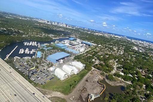 Port Everglades viewed from helicopter
