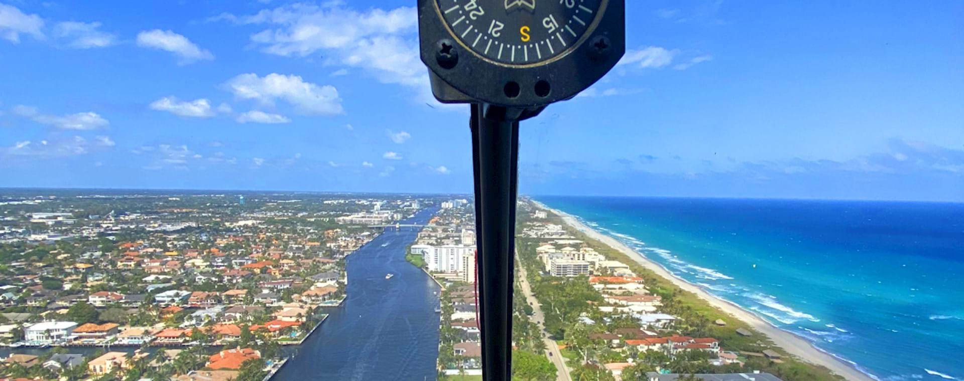 view of Miami from helicopter