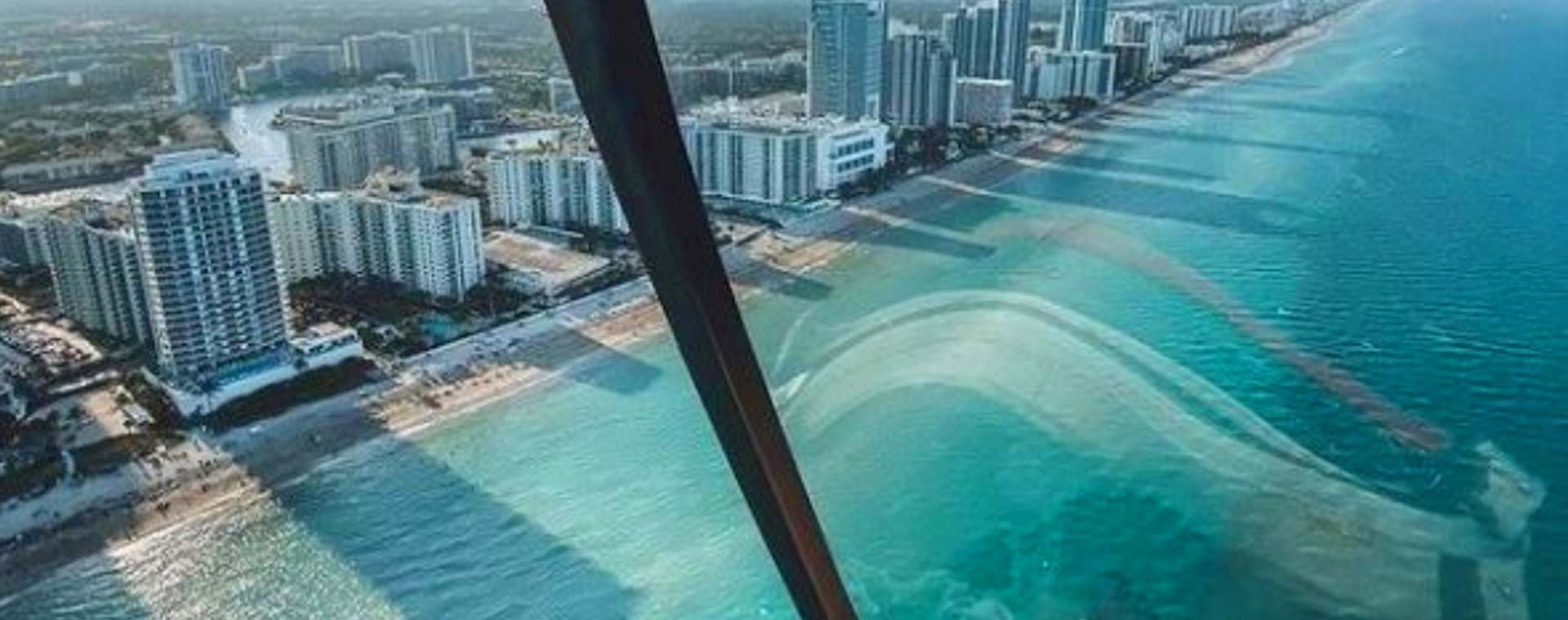 Ocean seen from helicopter