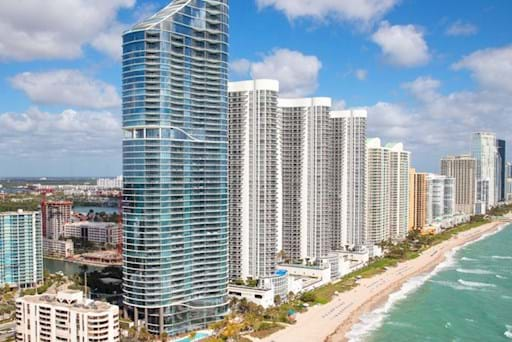 Miami view from an helicopter