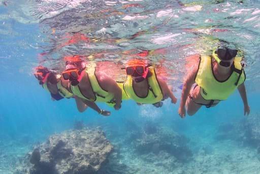 Girls snorkeling  in Key West
