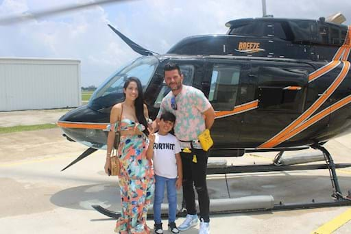 Family time in Helicopter