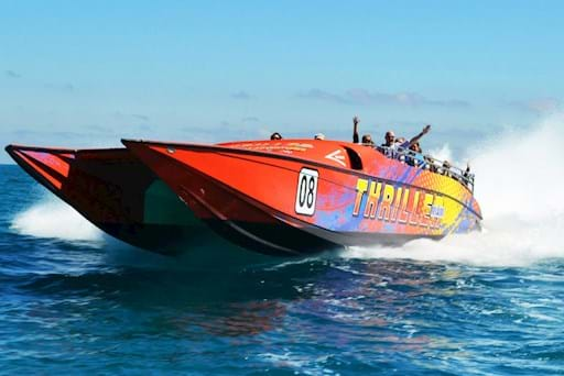 Red speedboat Miami
