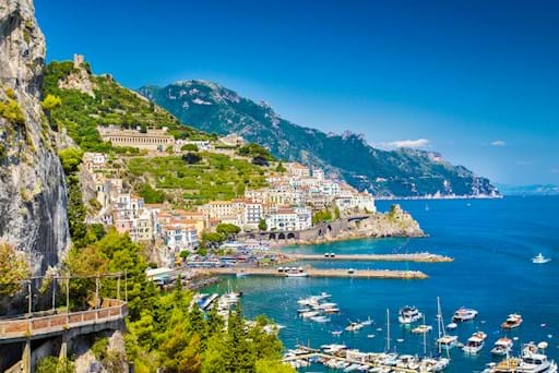 Scenic view of Amalfi