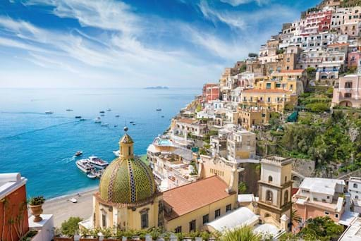 Stunning view of Positano from the top